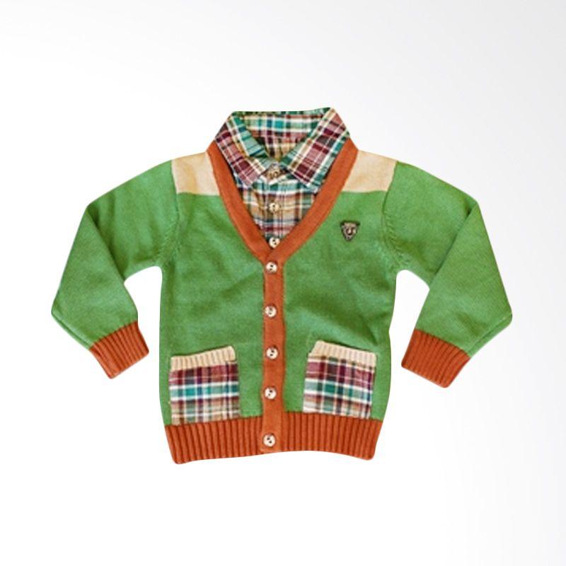 Dandelion Warm Green Cardigan Shirt Anak