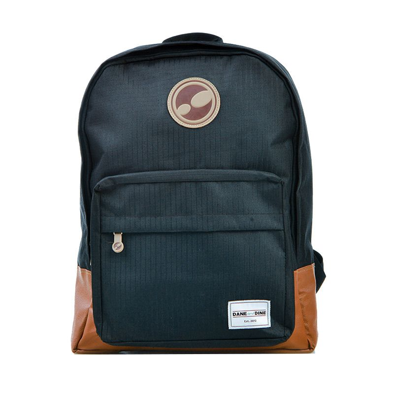 Dane And Dine Class Black Backpack Tas Ransel