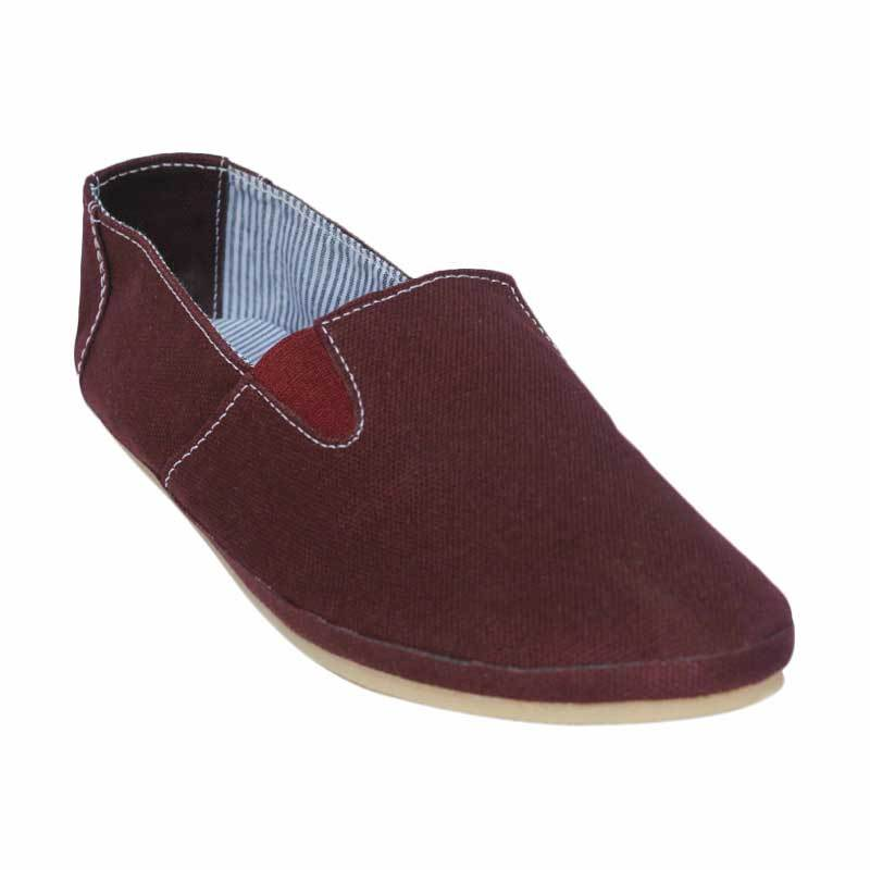Dane And Dine Slopy Girl Espadrilles Shoes - Maroon