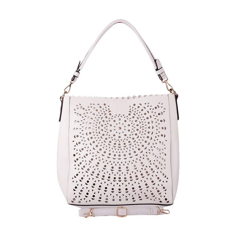 DAVID JONES PARIS Fashion CM2585 Pure White Shoulder & Sling Bag