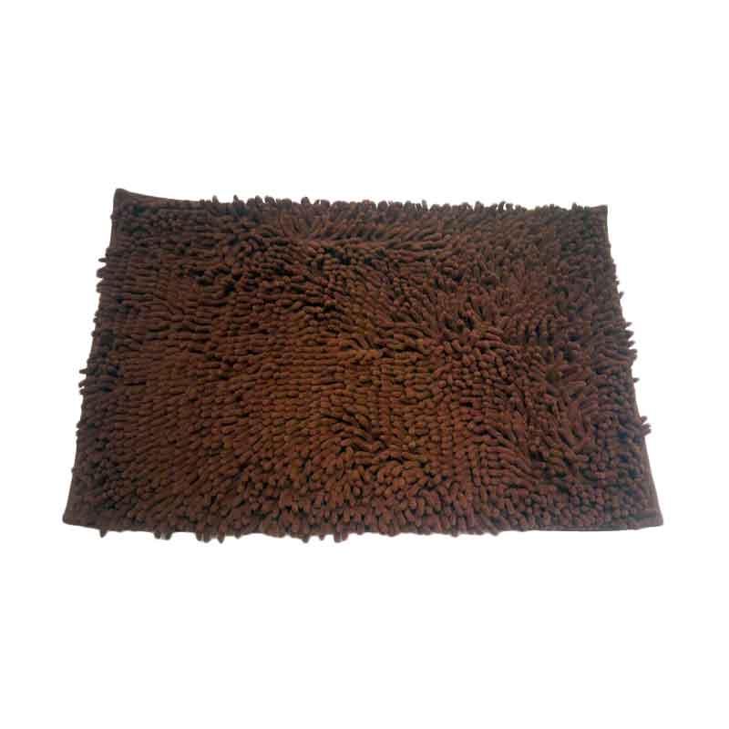 Keset Cendol Microfiber 40 x 60 cm -Coklat Tua ( Dark Chocolate )