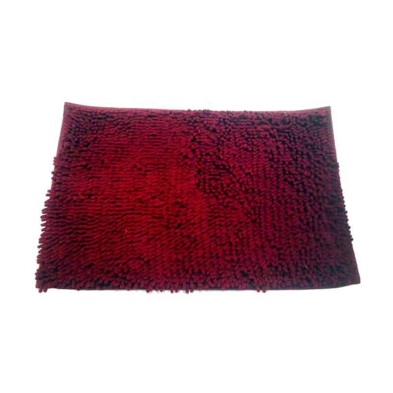 Keset Cendol Microfiber 40 x 60 cm - Merah Marun ( Red Maroon )