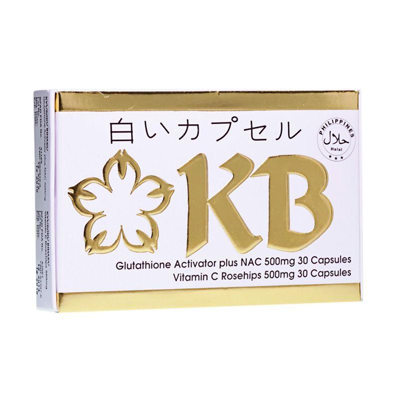 Kyusoku Bihaku KB Whitening Capsule KB Glutathione Activator with Nac dan Rosehips Vitamin C Suplemen