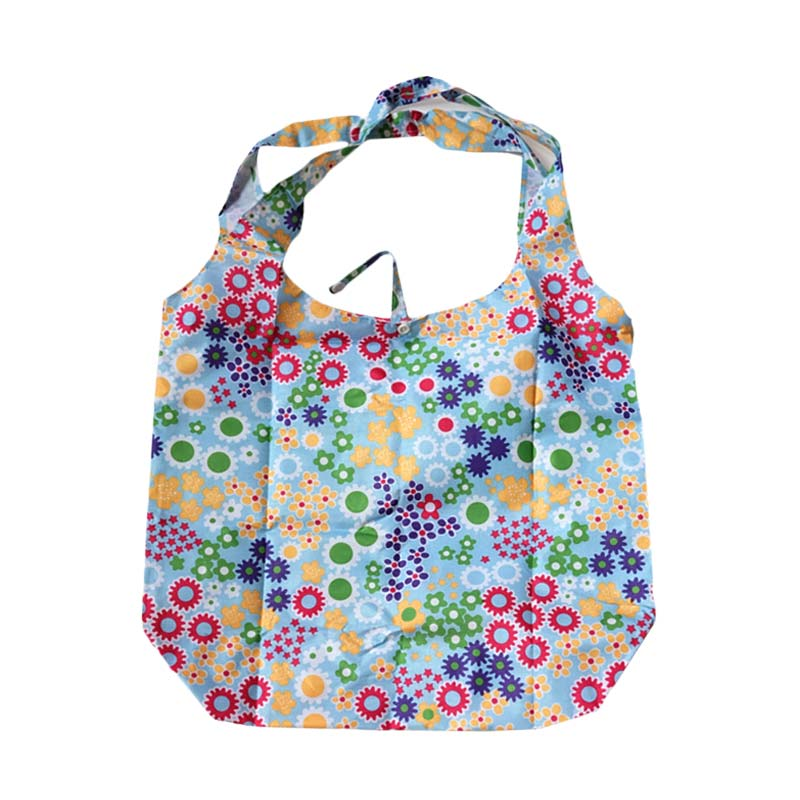 Deeneve Foldable Eco-Bag Floral Sky Blue Tas Lipat Tote Bag - Sky Blue
