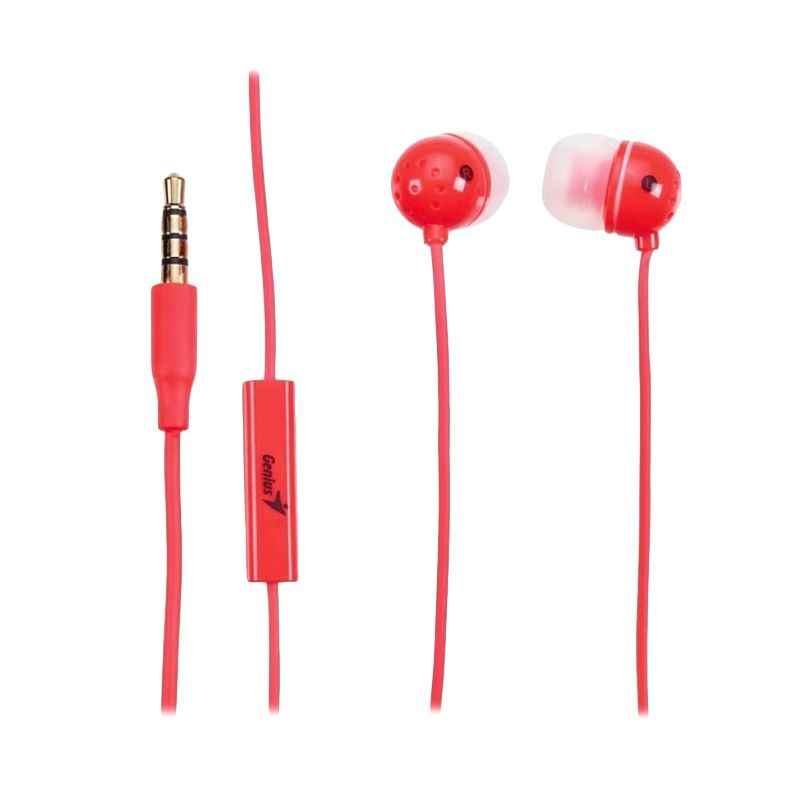 GENIUS HS-M210 Red Headset