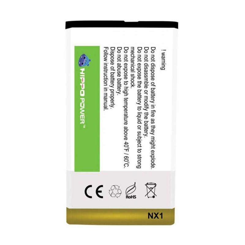 HIPPO Battery Double Power for Blackberry Q10 [2850 mAh]