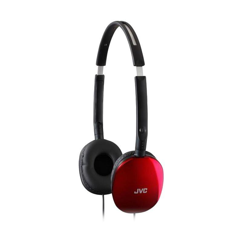 JVC Flats Lightwight HA-S160 Red Headphones