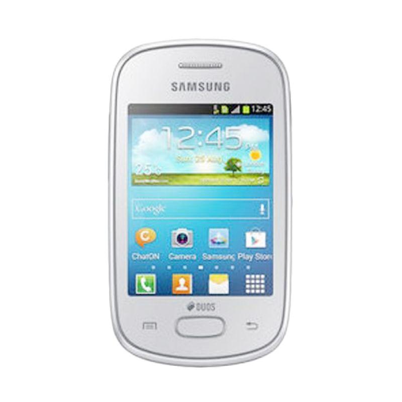 Samsung Galaxy Star Duos S5282 Putih Smartphone [4 GB] + Lanyard