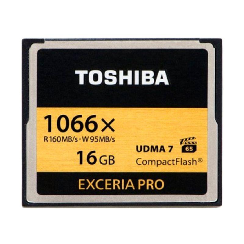 Toshiba Compact Flash Hitam Memori Card [16 GB/160 Mbps]