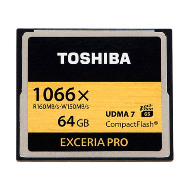 Toshiba Combact Flash Hitam Memori Card [64 GB/160 Mbps]