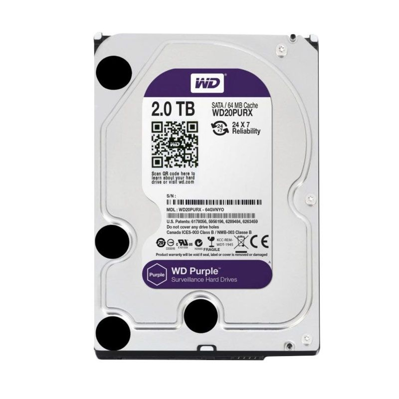 WD Purple Hard Disk for CCTV [2 TB/3.5 Inch]