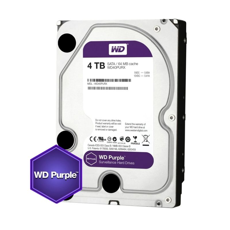 WD Purple Hard Disk for CCTV [4 TB/3.5 Inch]