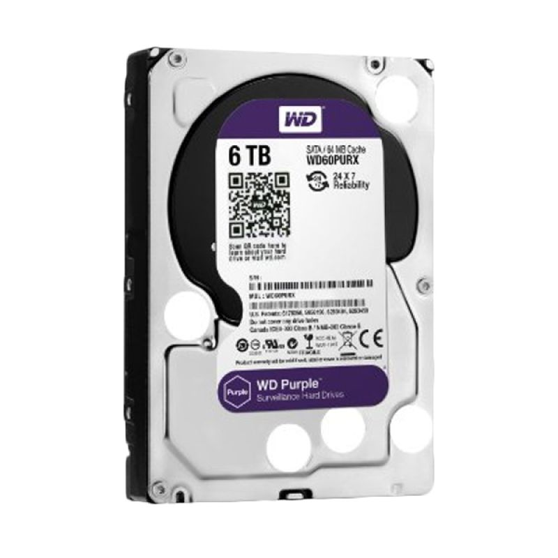 WD Purple Hard Disk for CCTV [6 TB/3.5 Inch]