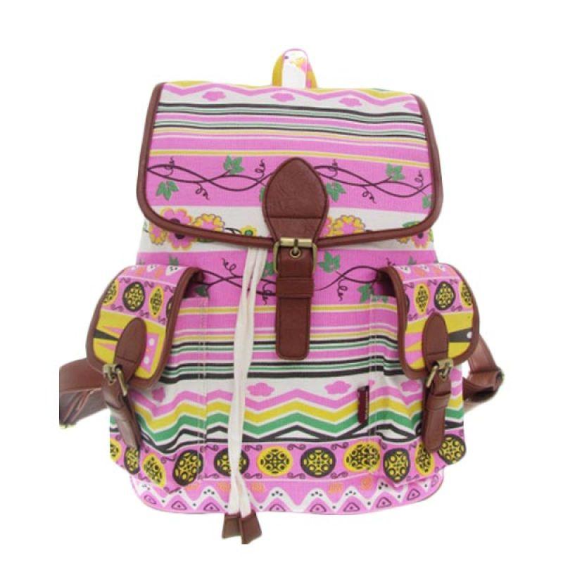 Delarosa Tribal Backpack Pink