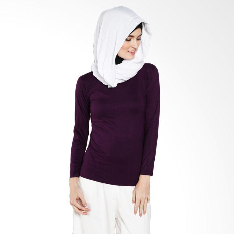 DELAROSA Dela Basic Manset T-1500094 Purple Atasan Muslim