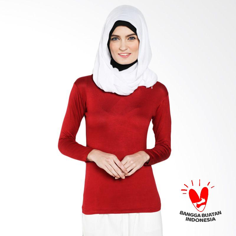 DELAROSA Dela Basic Manset T-1500112 Red Atasan Muslim