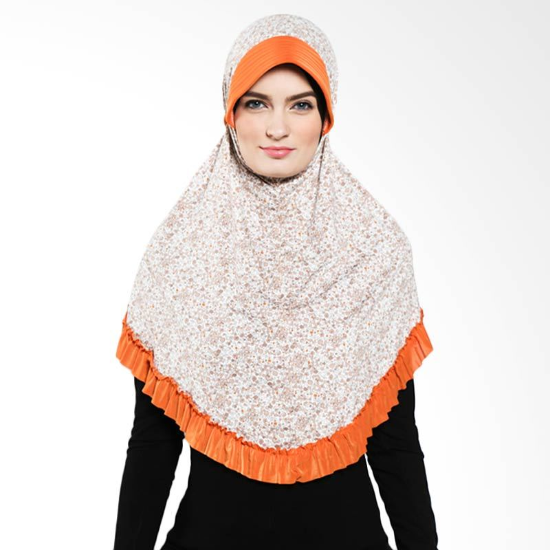 DELAROSA Jilbab Instant Little Flower KH-1500206 Orange Hijab