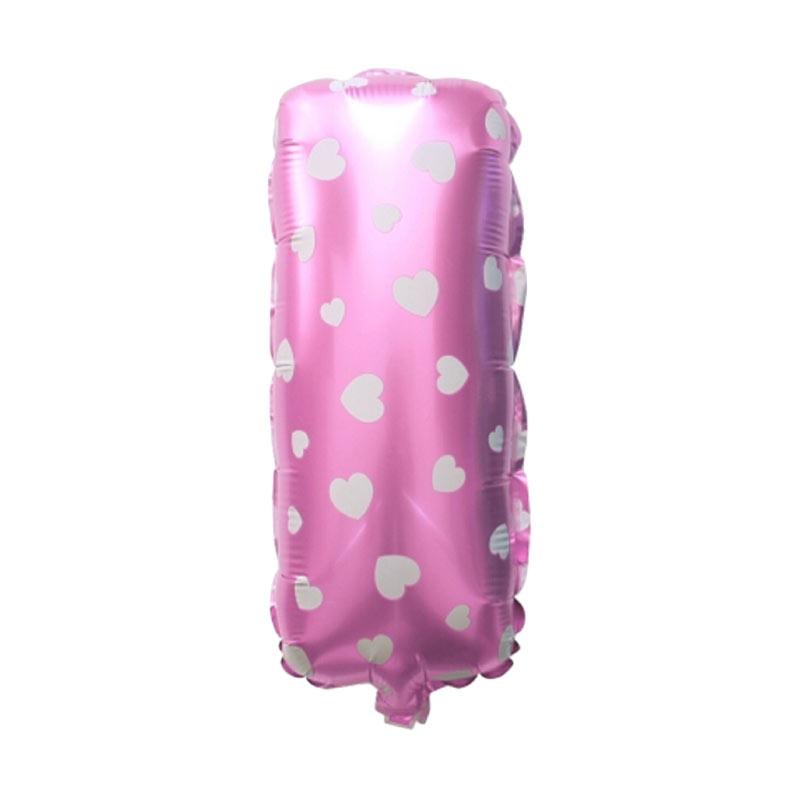 Delarose Balon Foil Huruf I - Pink
