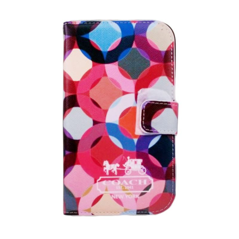 Bazel Flip Cover Motif Coach Samsung Galaxy Note II N7100 - Type 002