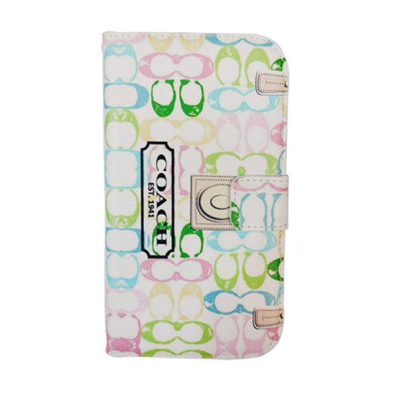 Bazel Flip Cover Motif Coach Samsung Galaxy Note II N7100