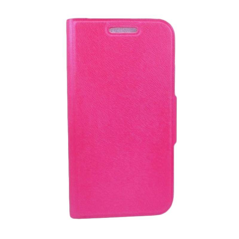 Bazel Flip Cover Polos for Samsung Galaxy S4 - Merah Muda