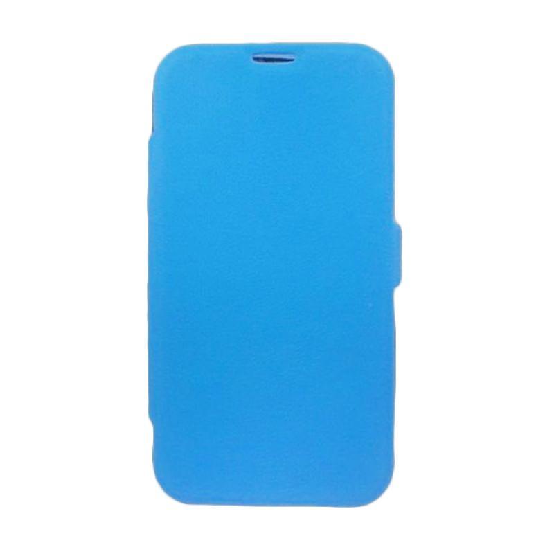 Bazel Flip Cover Standing Polos for Samsung Galaxy Note II N7100 - Biru