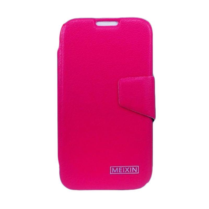 Bazel Meixin Flip Cover Samsung Galaxy Note II N7100 - Merah Muda