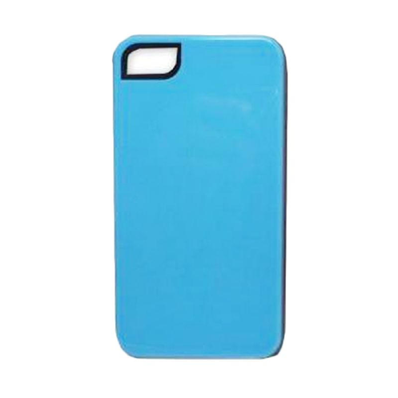 Delcell Back Cover Case Double Colour for iPhone 4 - Biru