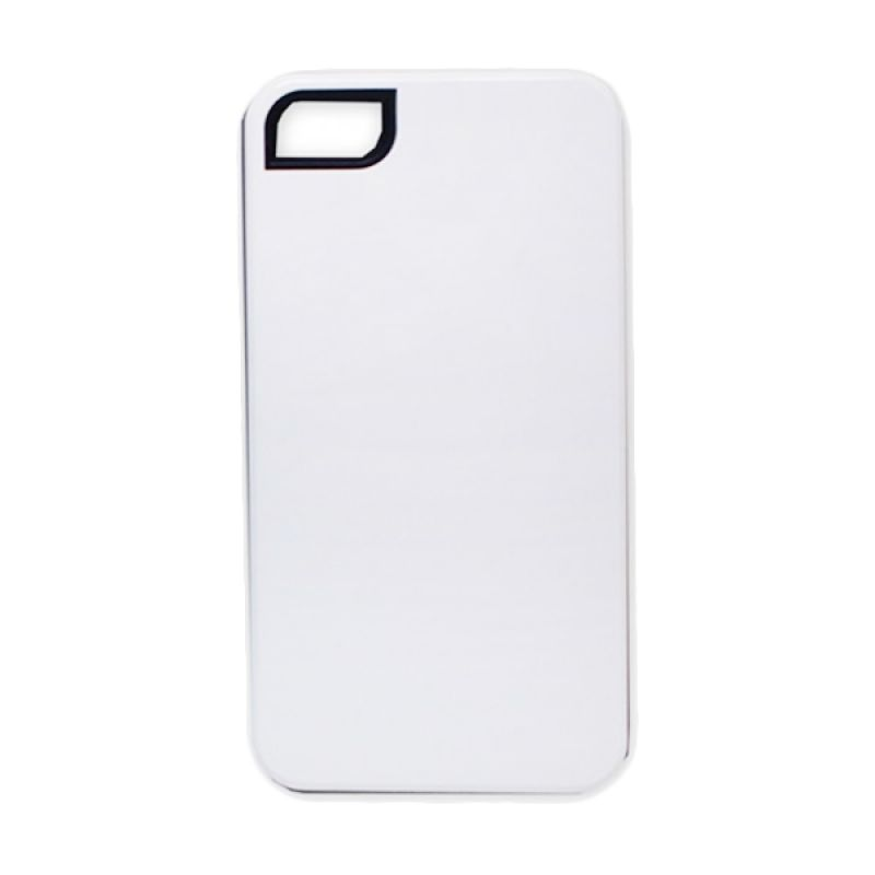 Delcell Back Cover Case Double Colour for iPhone 4 - Putih