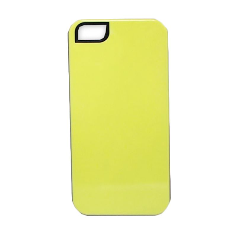 Delcell Back Cover Case Double Colour for iPhone 5 - Kuning Hijau