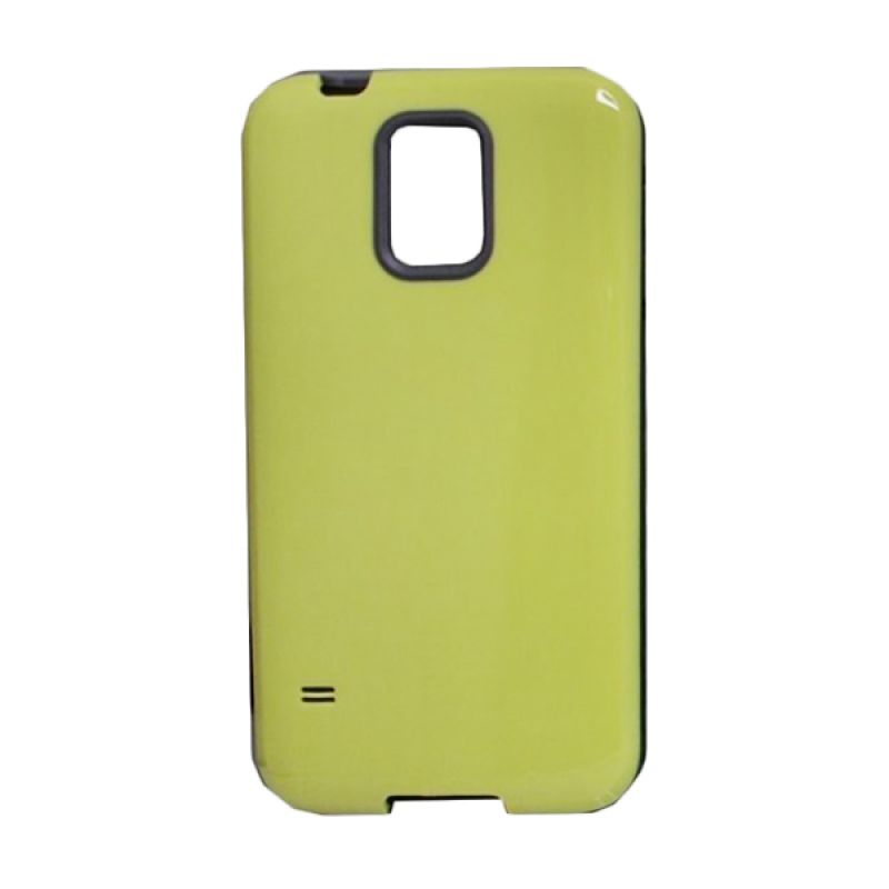 Delcell Back Cover Case Double Colour Samsung Galaxy S5 - Hijau Kuning