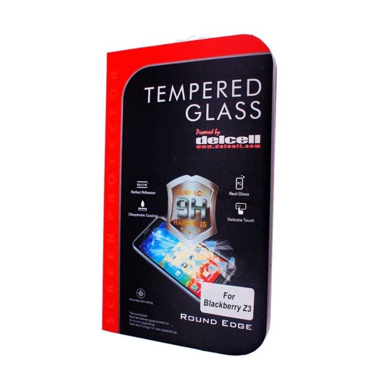 Delcell BlackBerry Z3 Tempered Glass Screen Protector