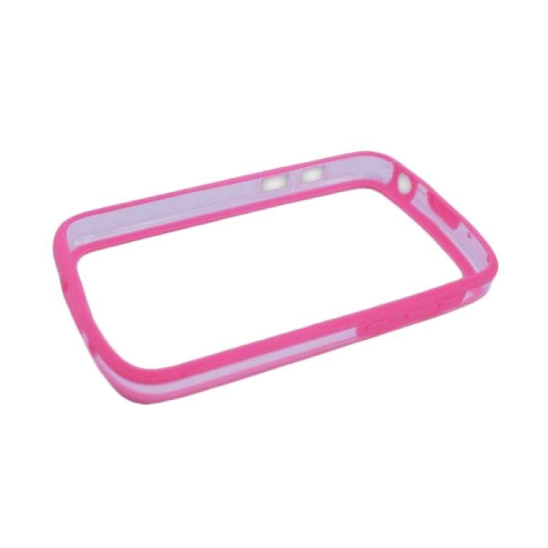 Delcell Bumper Plastik dan Karet Blackberry Q10 Transparan - Pink