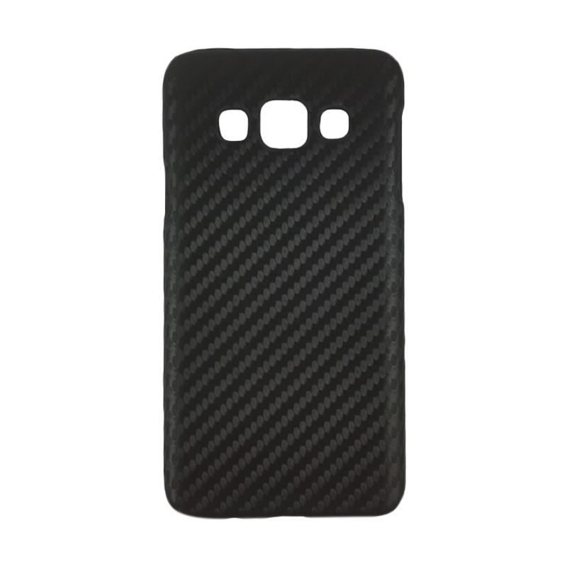 Delcell Carbon Hitam Casing for Galaxy A3