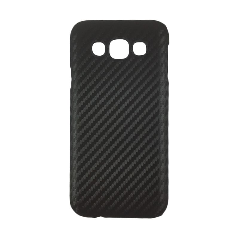 Delcell Carbon Hitam Casing for Galaxy E5