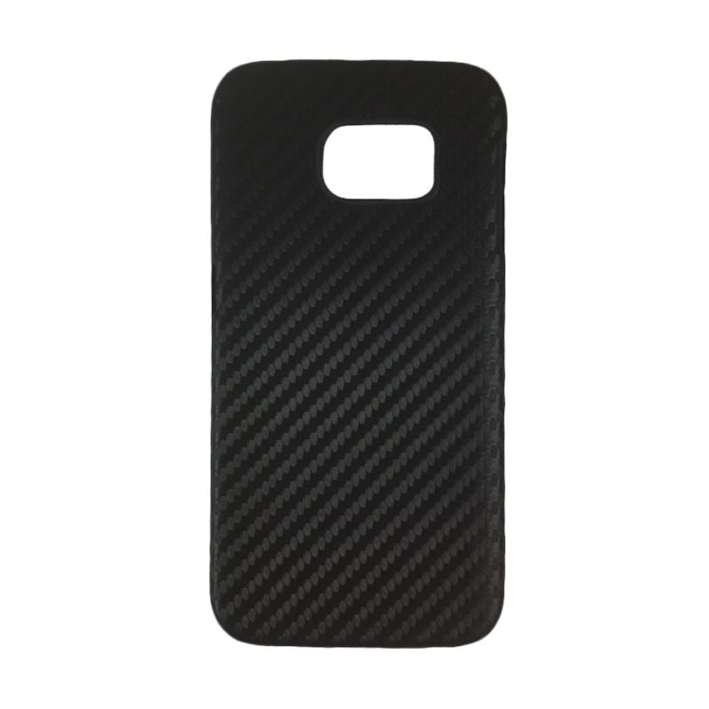 Delcell Carbon Hitam Casing fo Galaxy S6 Edge