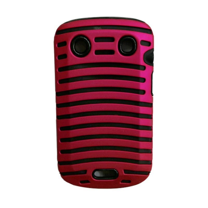 Delcell Case Garis Garis for BlackBerry 9930/9900 Merah