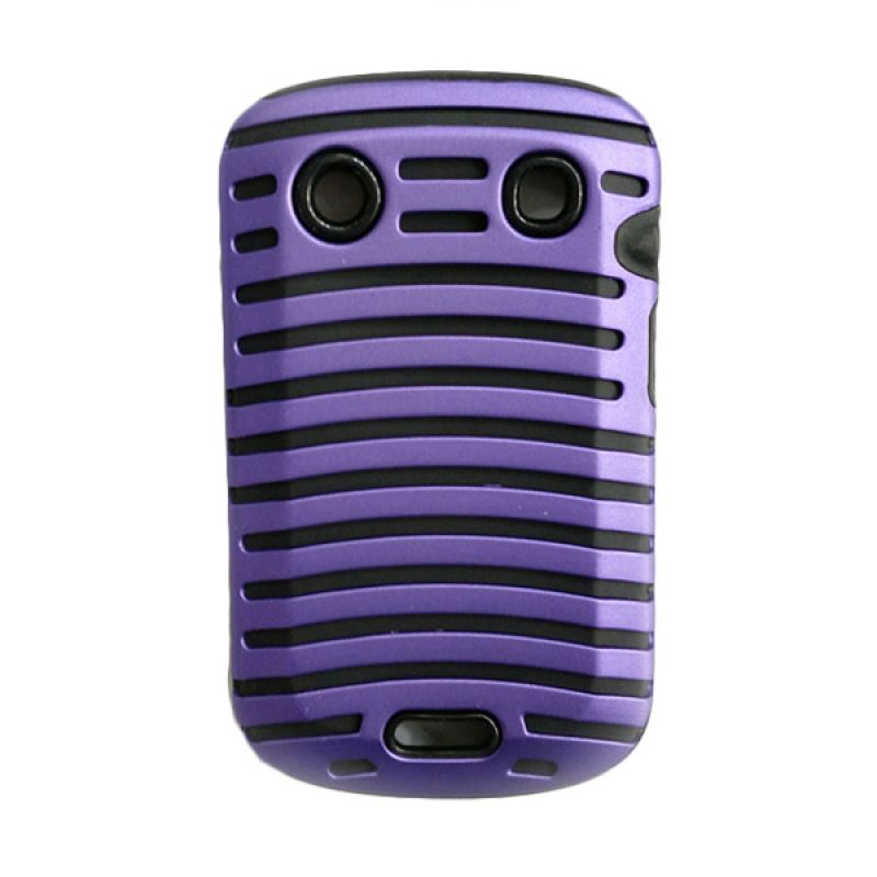 Delcell Case Garis Garis for BlackBerry 9930/9900/9790 Ungu