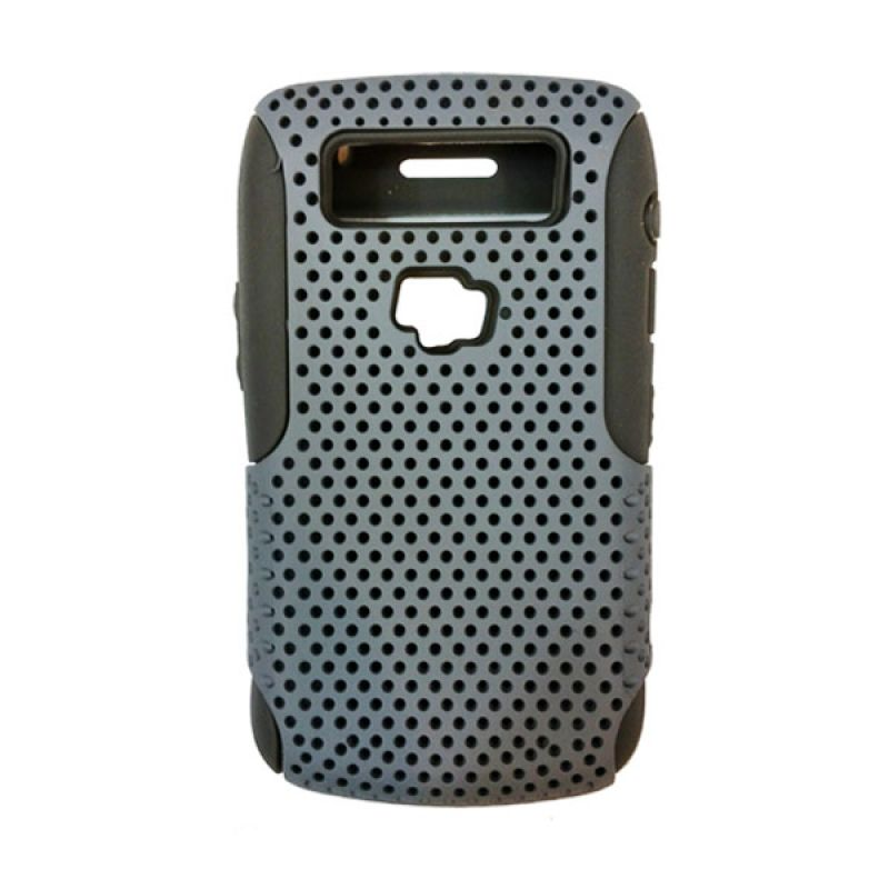 Delcell Case Logo BB for BlackBerry 9700 Putih Hitam