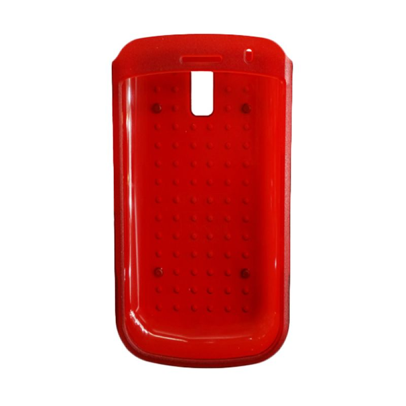 Delcell Case Motif Timbul for BlackBerry 9000 Merah