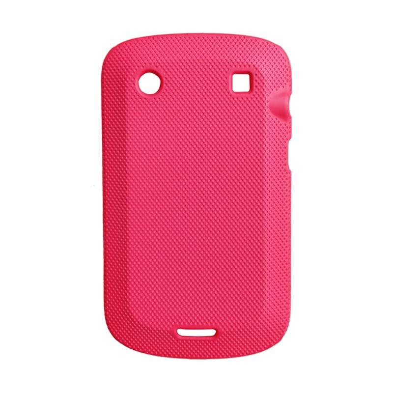 Delcell Case Silikon for BlackBerry 9900 Merah