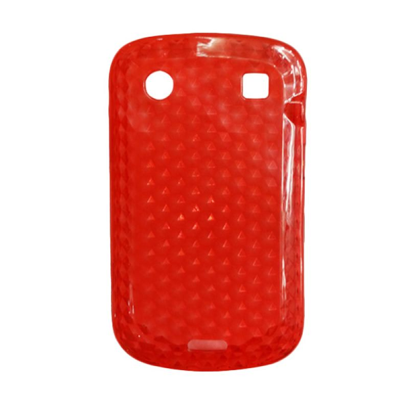 Delcell Case Silikon for BlackBerry 9930/9900 Merah