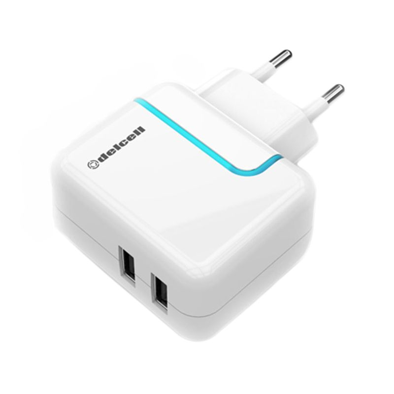 Delcell Dual USB Port Adaptor Charger [2.2A]