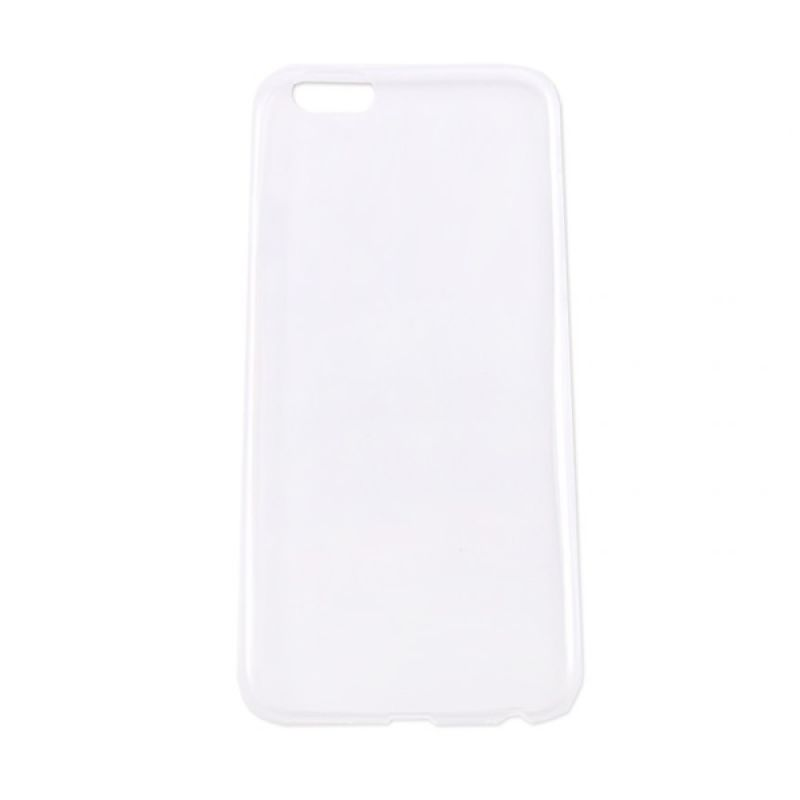 Delcell Emboss TPU Soft Case Jelly for iPhone 6 Transparan Casing