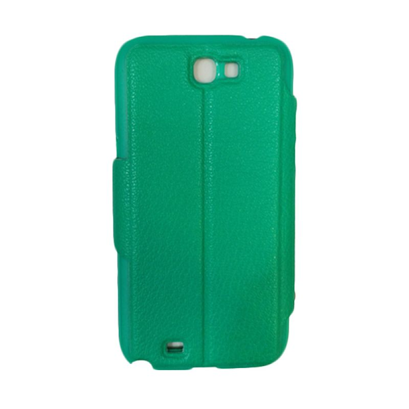 Delcell Flip Case for Samsung Galaxy Note 2 Hijau Tua Casing