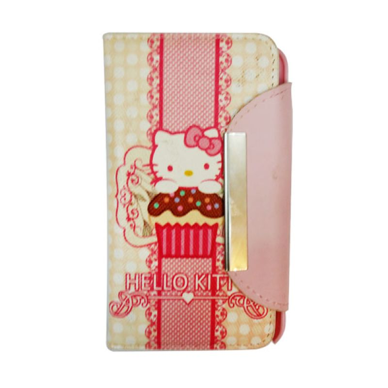 Delcell Flip Case Hello Kitty iPhone 5/5s - Kuning
