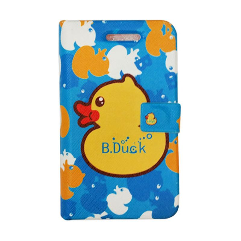 Delcell Flip Case Motif Duck iPhone 5/5s - Biru