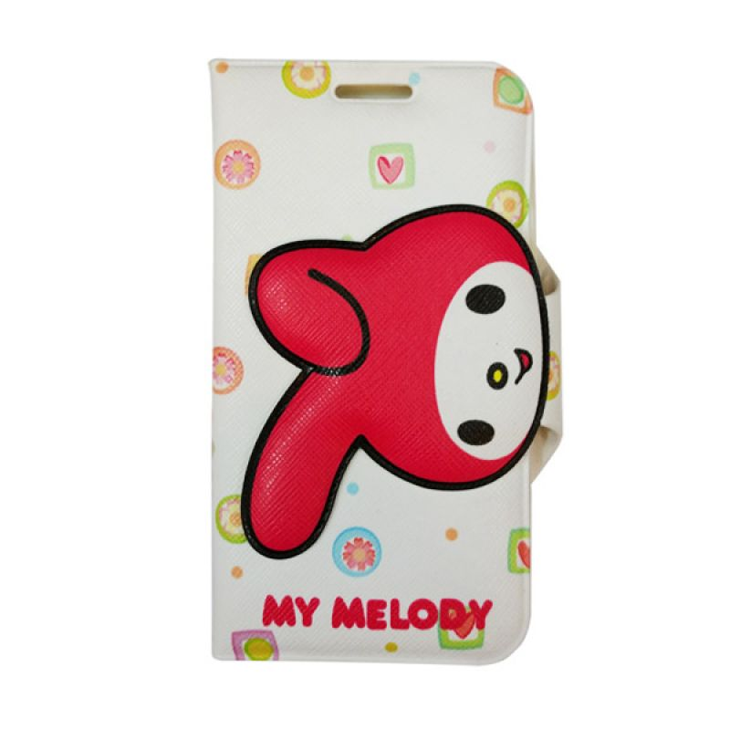 Delcell Flip Case Motif Melody Iphone 5/5s - Biru