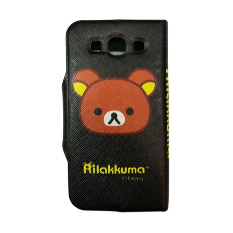 Delcell FlipCase For Samsung S3 Kepala Panda - Hitam