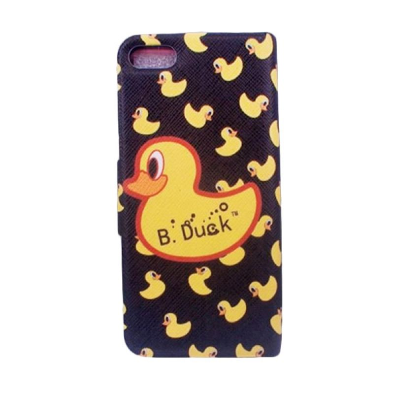 Delcell Flip Cover Case for iPhone 5/5s B-Duck - Hitam